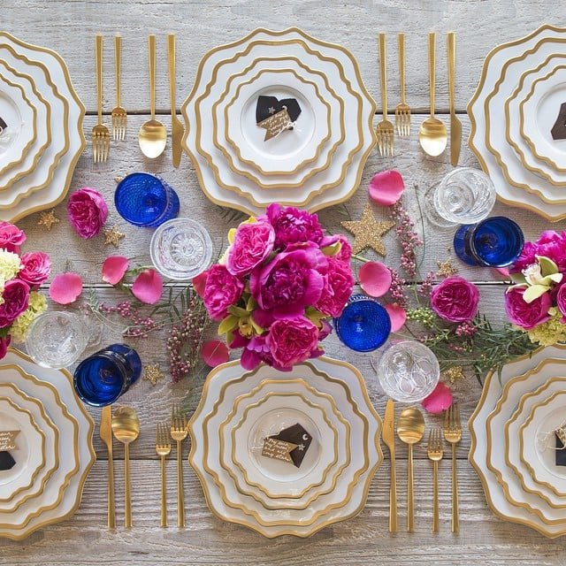 """""""Another gorgeous tablescape by @casadeperrin to shower @ashleesimpsonross and @realevanross #BabyLove,"""" Jessica captioned this colorful photo."""