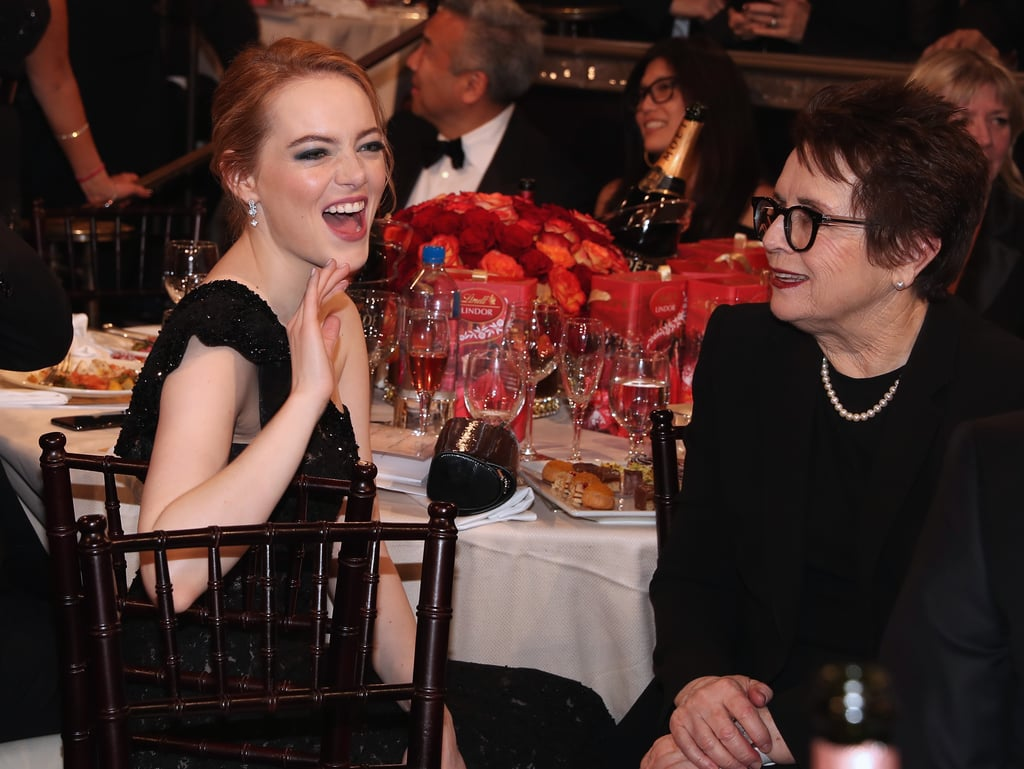 Pictured: Emma Stone and Billie Jean King