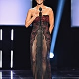 Halle Berry Sheer Reem Acra Dress