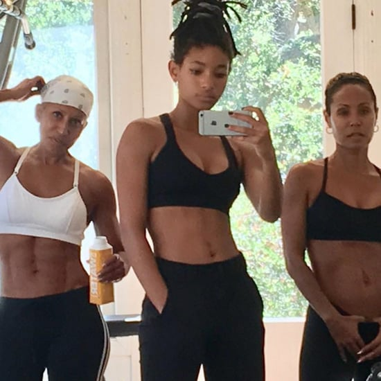 Jada Pinkett Smith and Family Working Out September 2018
