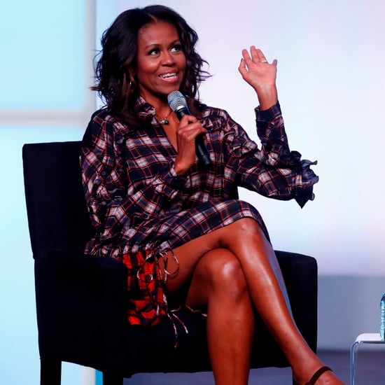Michelle Obama Plaid Dress at Obama Foundation Summit