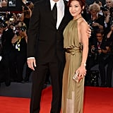 Nicolas Cage and his wife, Alice Kim Cage, walked the red carpet together for the Joe premiere.