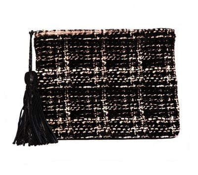 """Simone Camille The Dash Fur Clutch ($274) """"I live for these clutches! They fit everything I need for a night out, and they come in really great prints."""""""