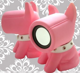 Totally Geeky or Geek Chic? Pink Bow Wow Speakers