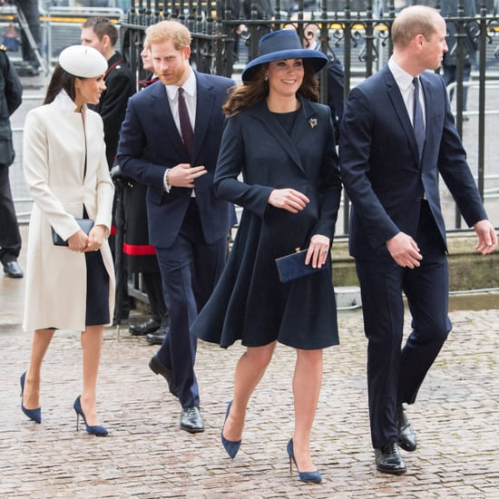 British Royals Wearing Navy Blue Pumps
