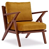 Velvet Mid-Century Accent Chair