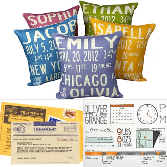 Birth Announcement Pillows Art and More – When to Send Birth Announcements