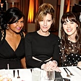 Zooey Deschanel and Mindy Kaling sat down for dinner at LA's historic Sunset Tower.
