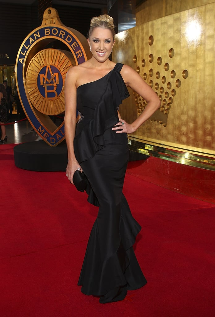 Ricky Ponting's wife Rianna Ponting made a statement with this va-va-voom gown.