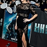 Brooklyn Decker lit up the Battleship premiere in South Korea in this lacy stunner by femme d'armes.