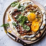 Turkish Fried Eggs With Herbed Yogurt and Naan Bread