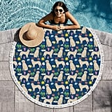 Golden Retriever Summer Beach Towel