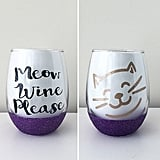 Meow Wine Please Wine Glass ($12+)