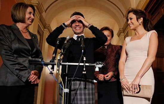 Jennifer Lopez and hubby Mark Anthony meet with Nancy Pelosi over Hispanic Education