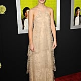 Emma arrived to the premiere of The Perks of Being a Wallflower in 2012 wearing a Giorgio Armani dress.