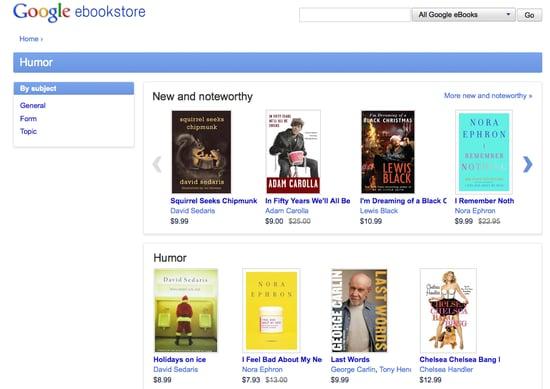 New Google eBookstore