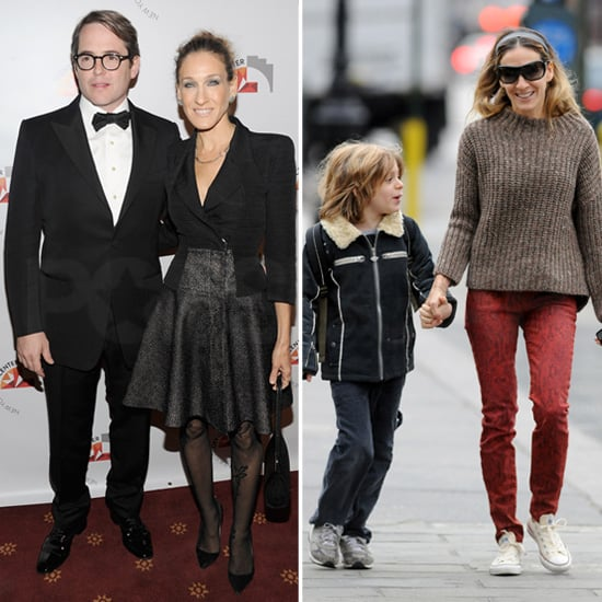 SJP Goes From Black Tie With Matthew to a School Run With James Wilkie