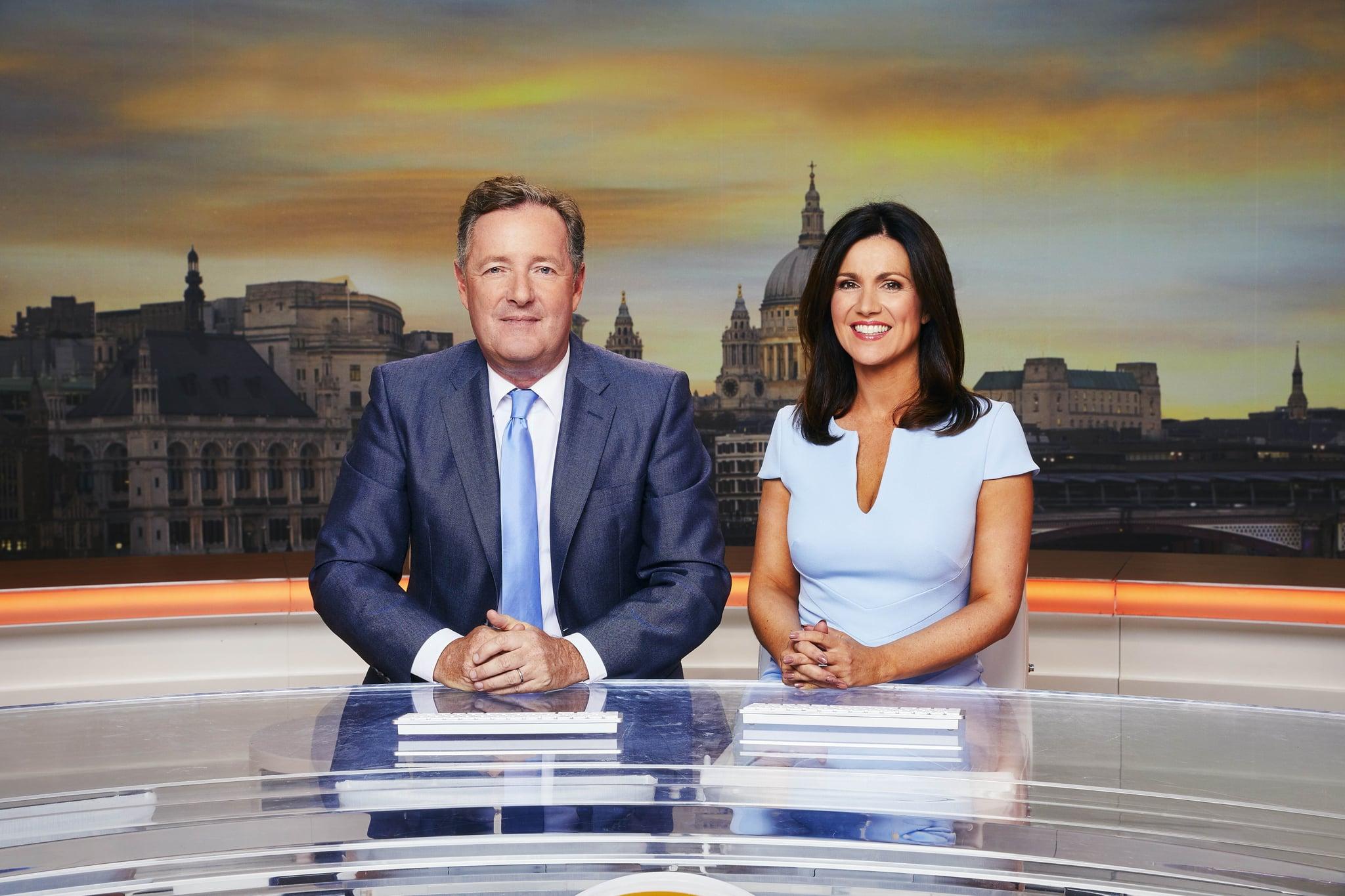از بریتانیا صبح روز بخیر ITV روزهای هفته در ITV تصویر: Pier Morgan and Susanna Reid (c) ITV عکاس: Nicky Johnson برای اطلاعات بیشتر با Peter Gray0207 157 3046 تماس بگیرید peter.gray@itv.com این عکس © ITV است و فقط برای آن قابل تولید است اهداف سرمقاله مستقیماً در ارتباط با برنامه Good Morning انگلیس یا ITV.  هنگامی که توسط ITV Picture Desk در دسترس قرار گرفت ، این عکس فقط یکبار تا تاریخ انتقال قابل تولید است و هیچ هزینه ای برای تولید مثل دریافت نمی شود.  هرگونه استفاده بعدی ممکن است هزینه ای را متحمل شود.  این عکس بدون مجوز کتبی صریح ITV Picture Desk نباید به هیچ نشریه یا وب سایت دیگری ارسال شود ، یا بایگانی دائمی شود.  شرایط و ضوابط کامل در وب سایت www.itvpictures.com موجود است