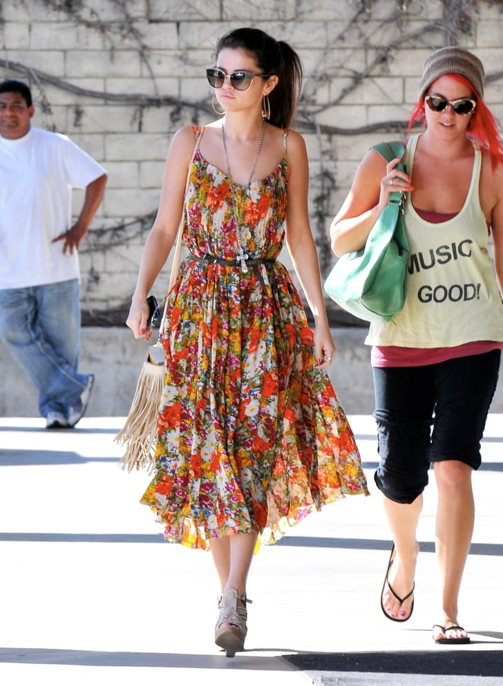 While Running Errands In Encino Selena Gomez Was Spring
