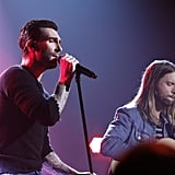 Maroon 5 wooed the crowd in Los Angeles.