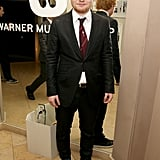 Ed Sheeran suited up for the Warner Music afterparty.