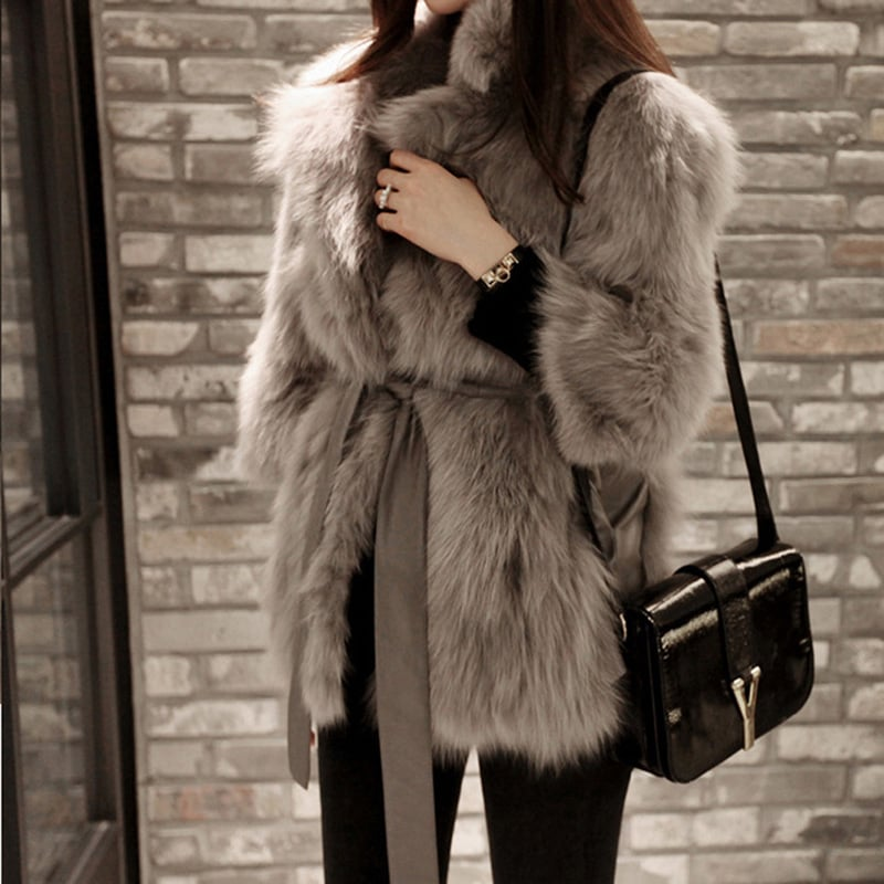 Sungpunet Faux Fox Fur Coat | Faux-Fur Coats on Amazon | POPSUGAR ...