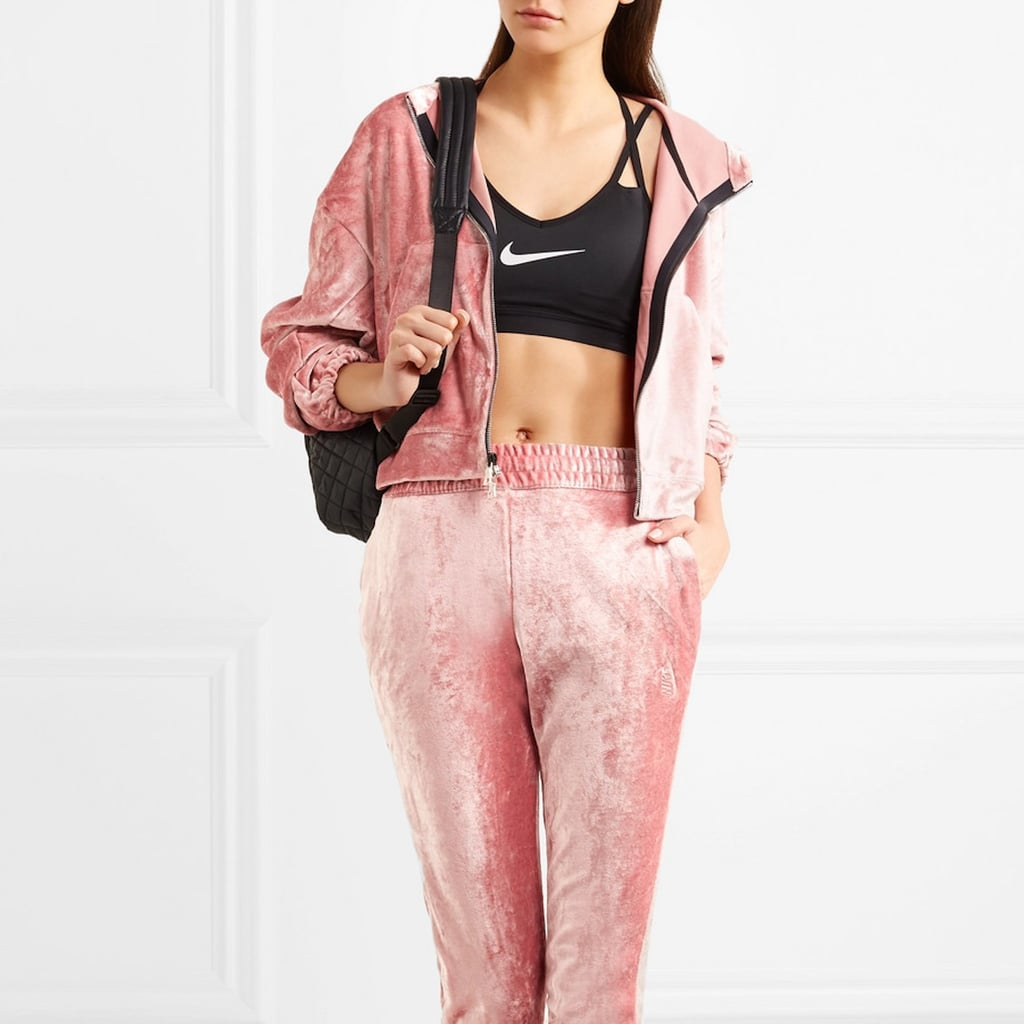 6be5ff865940 Nike Pink Velvet Sweatsuit