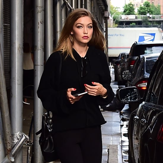 Gigi Hadid Wearing Slides