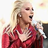 Lady Gaga at the 2016 Super Bowl