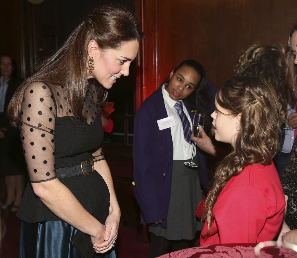 Pregnant Kate Middleton Pictures at Wellbeing Schools Awards