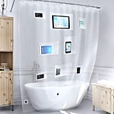 Install the pockets facing outwards and eliminate the worry of dropping your devices in the tub.
