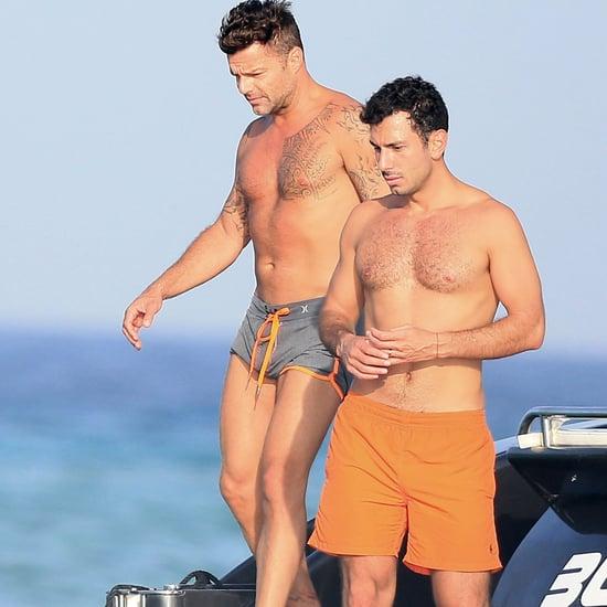 Ricky Martin and His Boyfriend in Ibiza September 2016