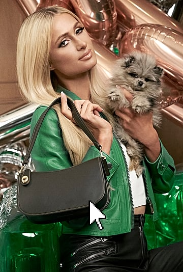 Paris Hilton Stars in Coach's Swinger Bag Holiday Campaign