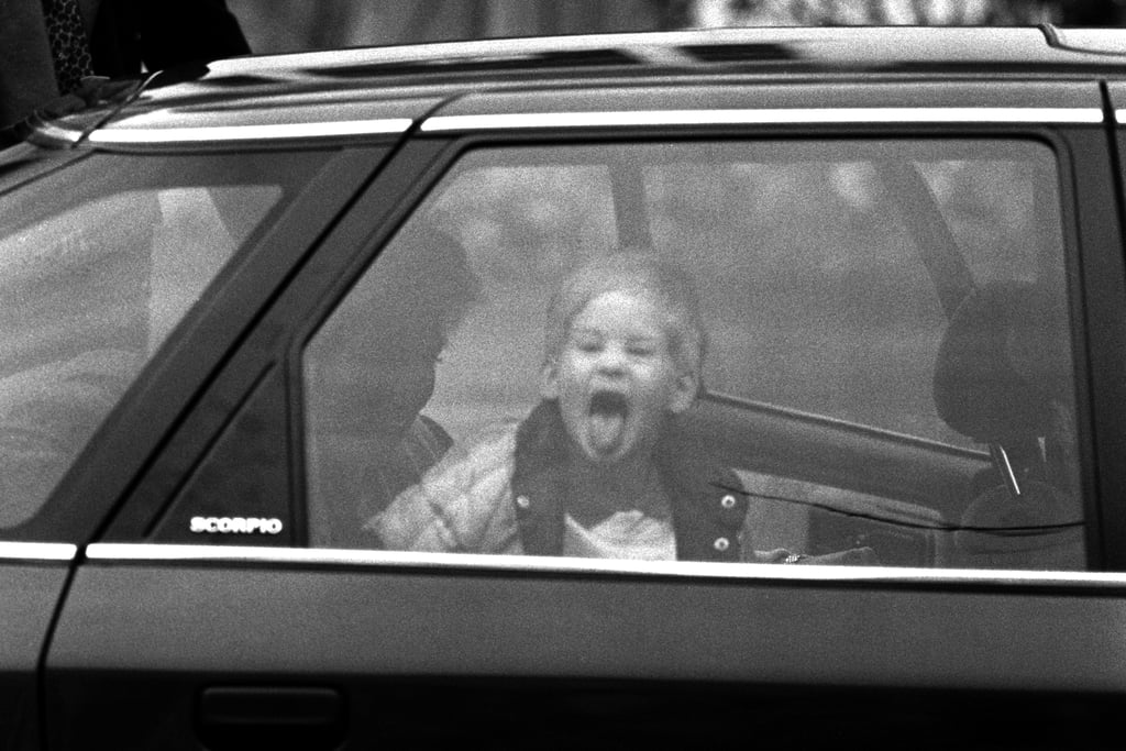 Prince Harry Sticking His Tongue Out in 1987