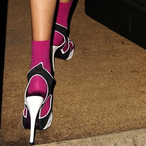 Guess Who Is Wearing Socks and Heels?
