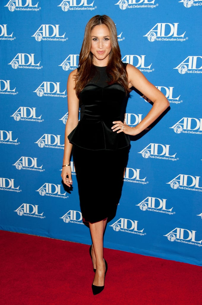 Meghan kept things simple when she attended the Anti-Defamation League Entertainment Industry Awards Dinner in 2011.