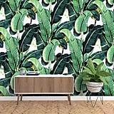 Murwall Banana Leaf Wallpaper Tropical Leaves Wall Mural