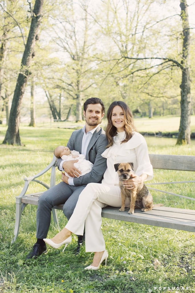 "Friday marked Prince Carl Philip of Sweden's 37th birthday, and in honor of the special occasion, Sweden's Royal Palace released a series of new family portraits. In the shots, new parents Carl and Princess Sofia show off their beautiful baby boy, Prince Alexander, whom they welcomed back in April, alongside their adorable family dog. It's just the latest glimpse the world has gotten of Alexander since the duo's postdelivery photo, though, the prince did admit that he ""couldn't stop"" crying during the birth of his son. Keep reading for a look at the sweet family photos, and then check out the best pictures of the Swedish royal couple."