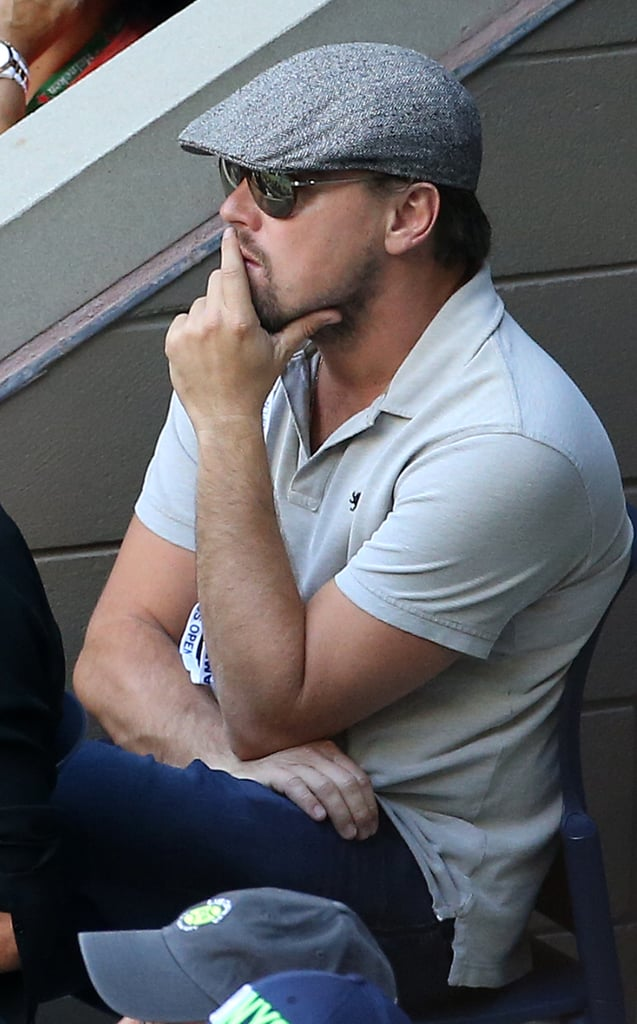 Following his debonair appearance at the Toronto Film Festival on Friday, Leonardo DiCaprio returned to NYC just in time for the men's final of the US Open. On Sunday, the Before the Flood actor intently watched Novak Djokovic take on Stan Wawrinka at Arthur Ashe Stadium. Dressed in his signature newsboy cap and sunglasses, the actor tried to go incognito once again, but a couple of attendees recognized him immediately. Just a day before, Jessica Alba and her two daughters, Honor and Haven Warren, attended the women's final and were as cute as can be as they took in the match from the stands.
