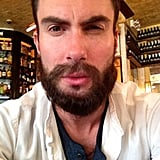 Adam Levine showed off his new beard. Source: