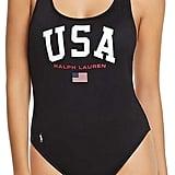 Polo Ralph Lauren Slogan One Piece Swimsuit