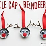 Bottle-Cap Reindeer Ornaments