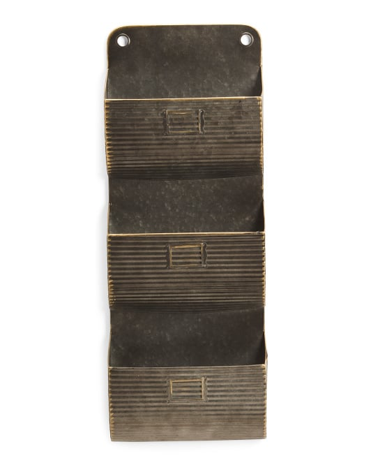 Galvanized Metal Wall Pocket