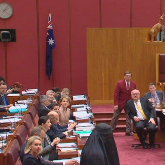 Australian Senator Pauline Hanson Wears Burqa