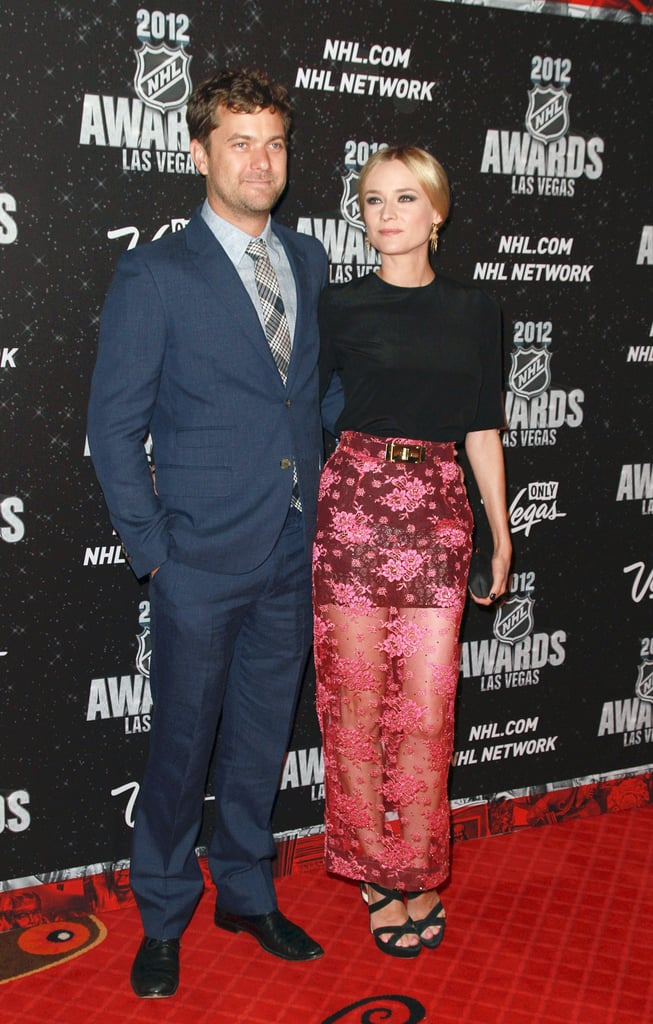 Diane Kruger and Joshua Jackson were in attendance at last night's NHL Awards at the Wynn in Las Vegas. Diane chose an Alessandra Rich look, featuring a miniskirt and see-through lace overlay, for the night out. The pair posed for pictures on the red carpet as they headed inside for the festivities, where some of the league's stars were recognized for their contributions to the sport, and stopped for spaghetti at The Cosmopolitan's Scarpetta afterward.   Diane and Josh are back in the States after spending a couple of weeks in France last month. The pair attended the Cannes Film Festival, where Diane served as a juror, and were in the stands during the French Open. The couple are well-known sports fans. Before hitting up last night's NHL honors, Josh and Diane cheered on the LA Kings during their June 5 game against the New Jersey Devils.