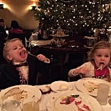 Neil Patrick Harris snapped a picture of his kids during Christmas Eve dinner.
