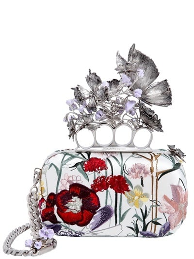 Alexander McQueen Knuckle Box Floral Embroidered Clutch ($3,895)