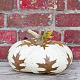 Decoupage Leaves Pumpkin