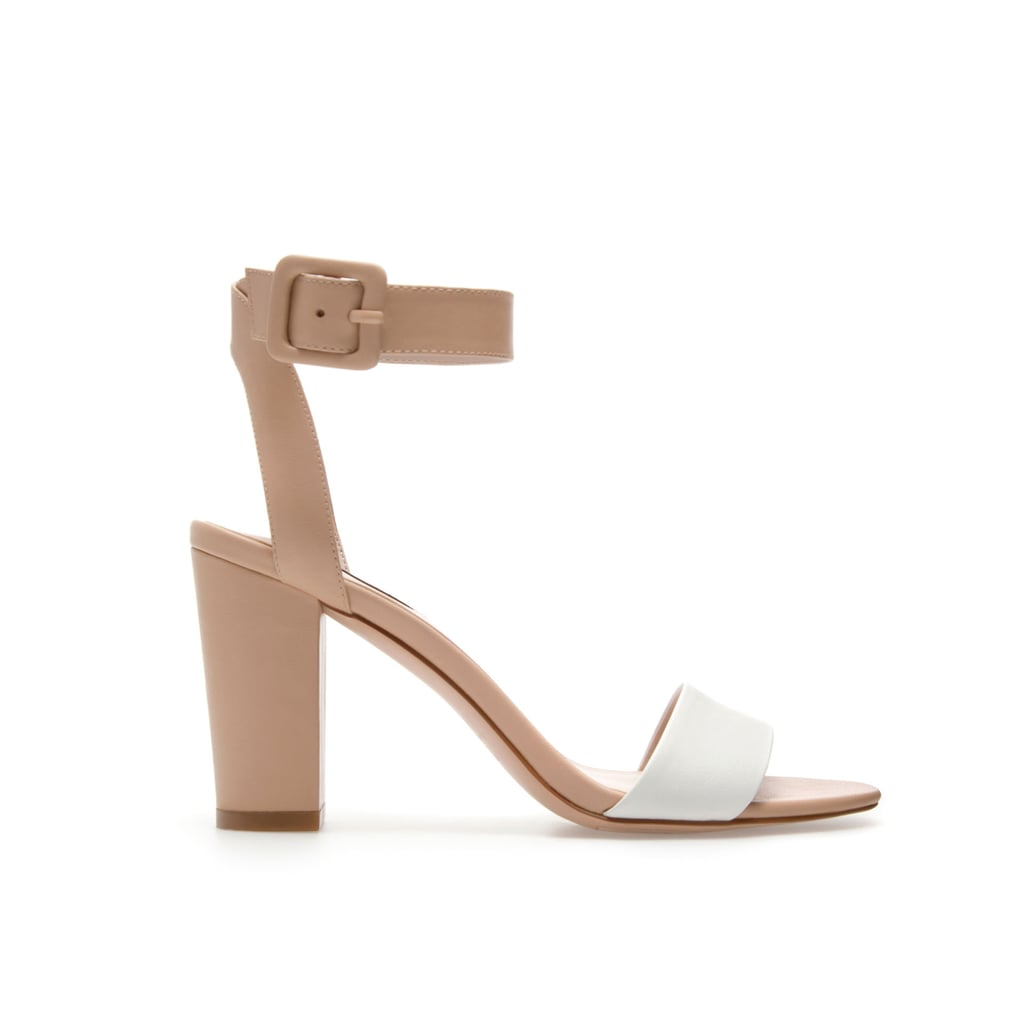 Pair this minimal Zara Mid-Heel sandal ($50) with slouched jeans and a printed tee for a chic off-duty look.