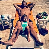 And Shirtless by the Pool With His Crazy-Cute Daughter